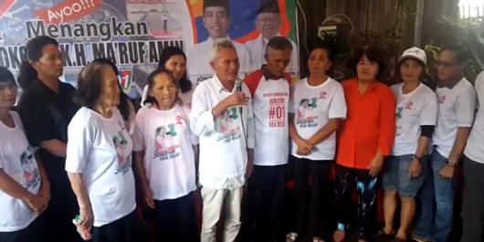 Keluarga Ibunda Prabowo di Sulut Dukung Jokowi-Ma'ruf Amin