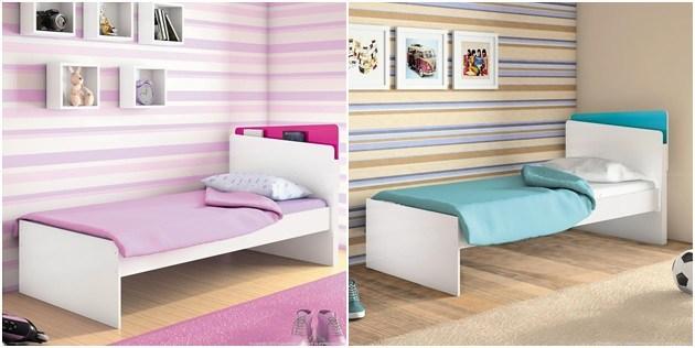cama de menino e menina