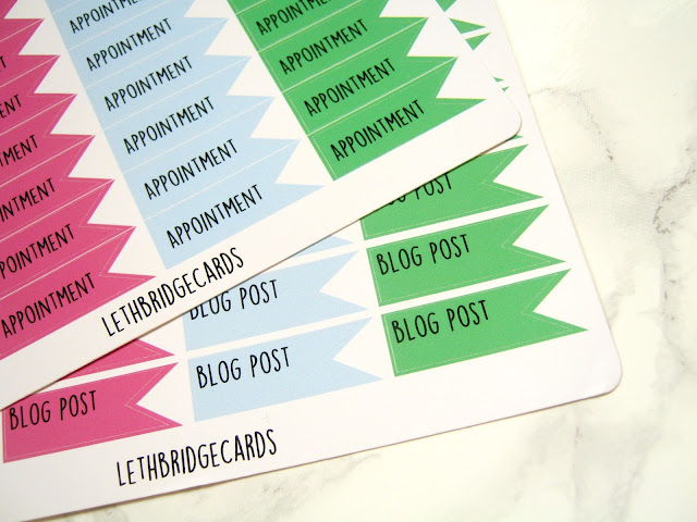 Planner stickers lethbridge cards