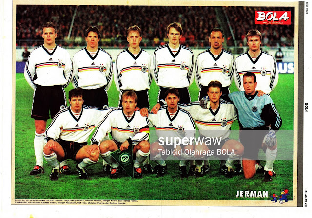 GERMANY DEUTCHSLAND TEAM SQUAD 1998