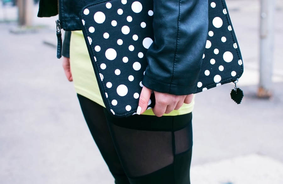 Coming up next: Leather, dots & neon!