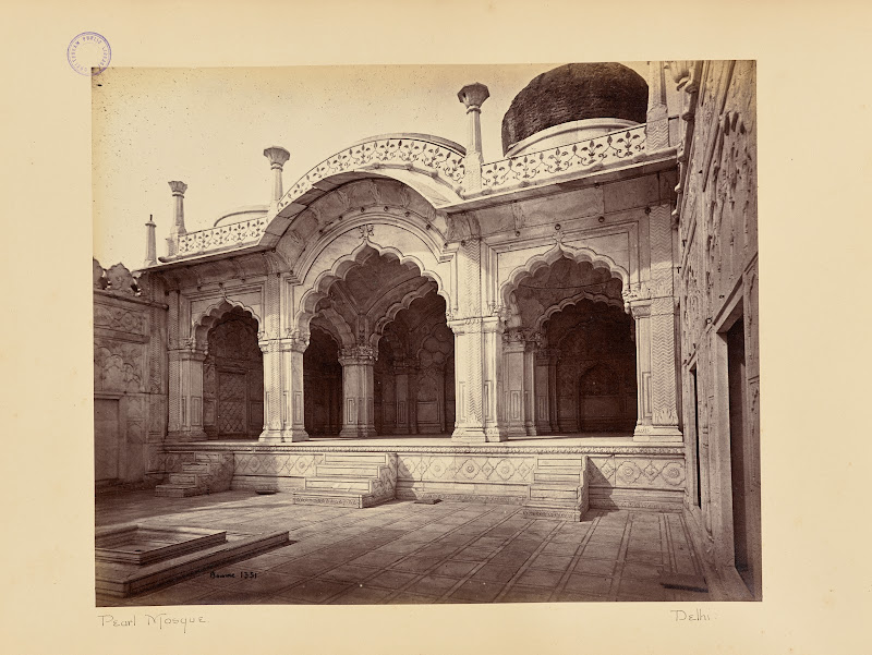 Motee Musjid (Pearl Mosque) - Red Fort, Delhi, Circa 1866