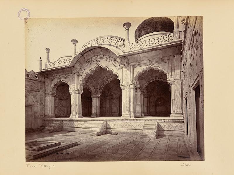 Motee Musjid (Pearl Mosque) - Red Fort, Delhi, Circa 1866