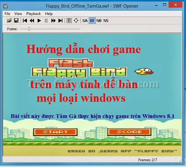 Download game SWF Flappy Bird Offline Windows 8,7,XP