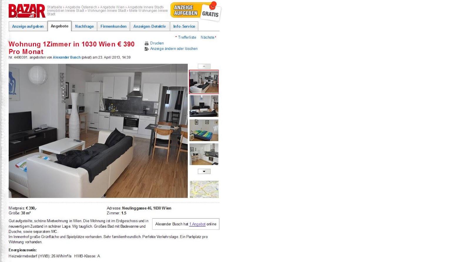 Wohnungsbetrugblogspotcom Wohnung 1zimmer In 1030 Wien 390 Pro