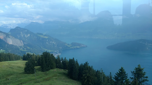 a look down at Lake Lucerne