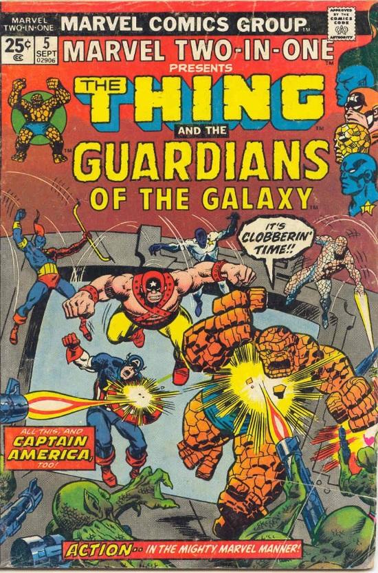Portada de Marvel Two-In-One #5, obra de Sal Buscema