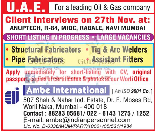 Leading Oil & Gas company Jobs for UAE - LATEST JOBS