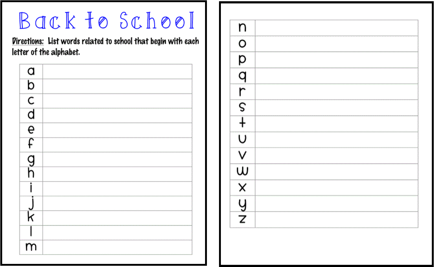 Ms Third Grade Back To School Freebie