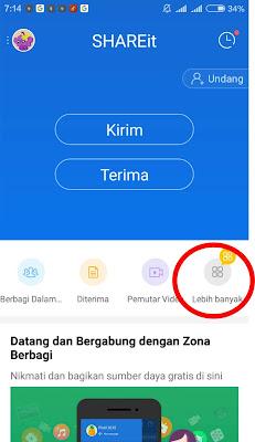 cara share file dari android