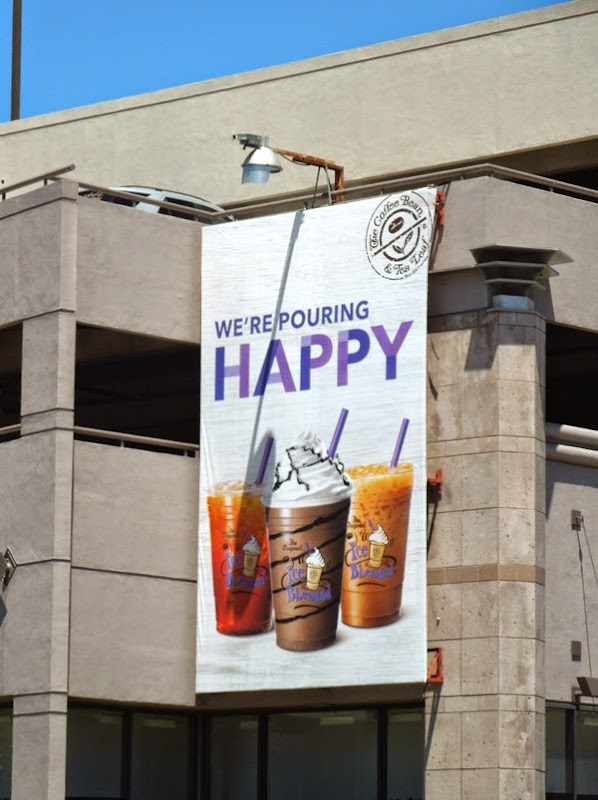 pouring happy Coffee Bean billboard