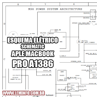 Esquema Elétrico Notebook Laptop Apple MacBook Pro A1386 Manual de Serviço  Service Manual schematic Diagram Notebook Laptop Apple MacBook Pro A1386    Esquematico Notebook Laptop Apple MacBook Pro A1386