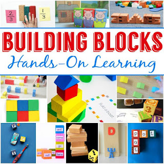 Building Blocks Learning Activities | Use foam blocks to make word family bingo game!