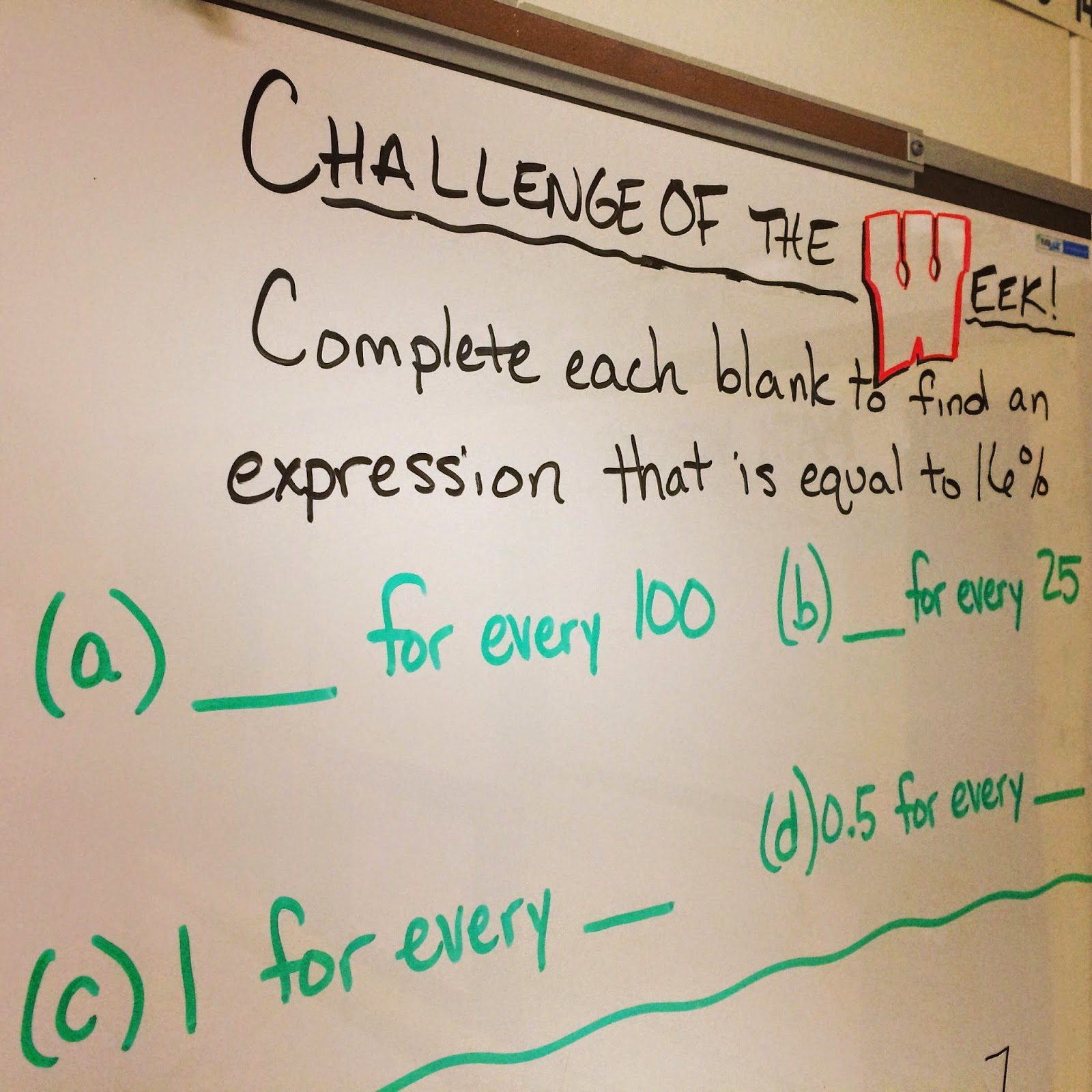 Middle School Math Man Challenge Of The Week