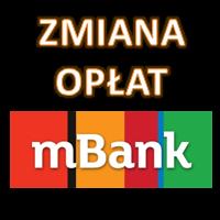 Zmiana opłat i prowizji w mBanku