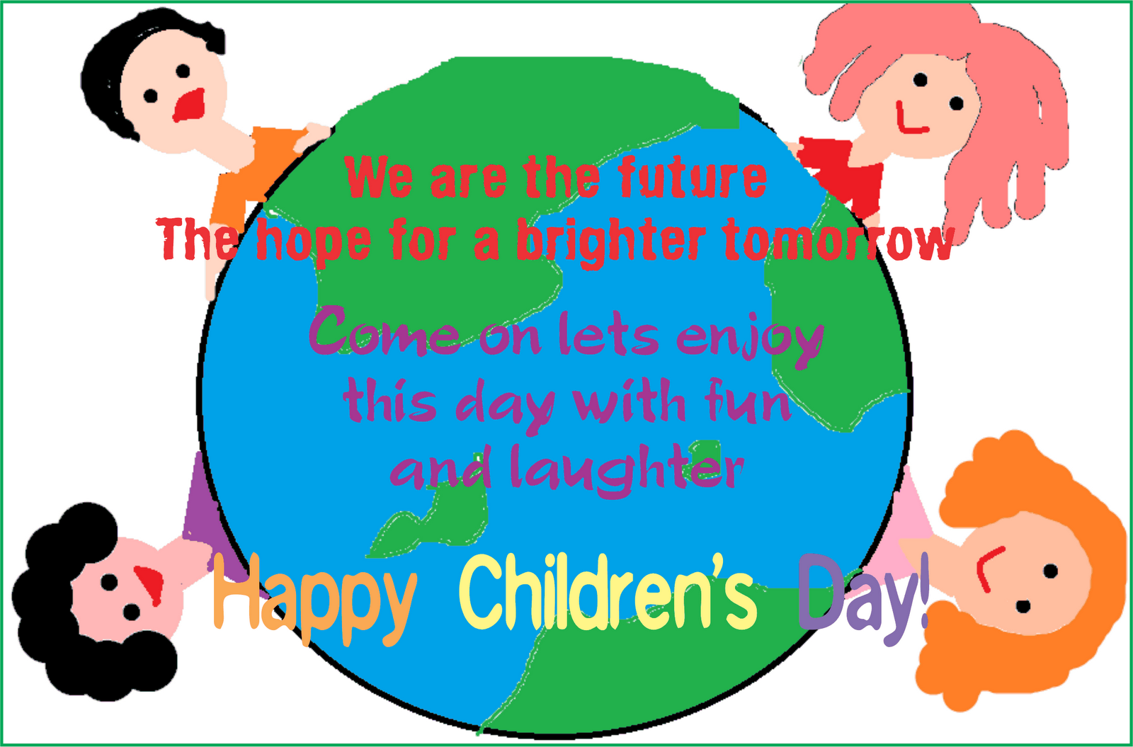 Children Day Drawing For School