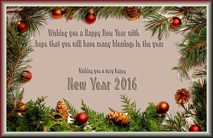 Happy New Year Invitation Greetings Card