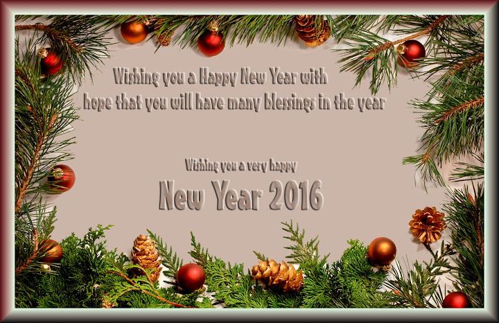 Happy New Year Invitation Greetings Card