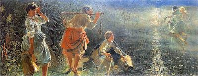 Embrace of Topielec and Dziwożony,  public domain painting by Jacek Malczewski