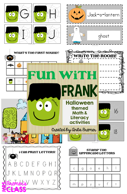 Halloween centers for Kindergarten and First Grade