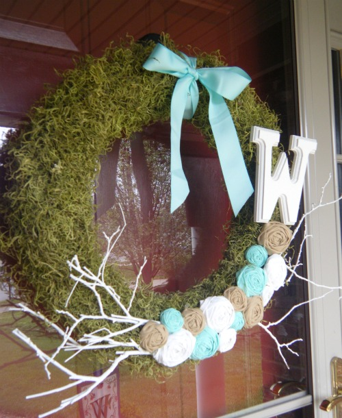 Miss Lovie Spring Moss And Rosette Wreath