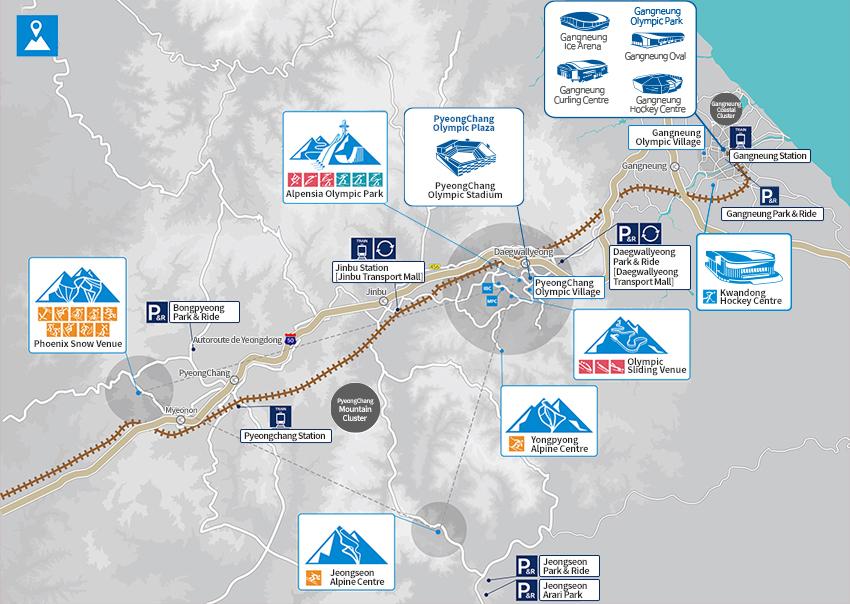 pyeongchang mappa olimpiadi invernali
