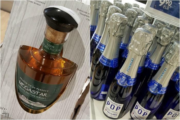 Megastar whisky and champagne