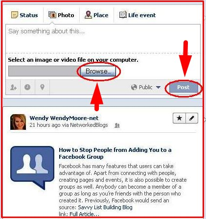 how to upload mp3 on facebook