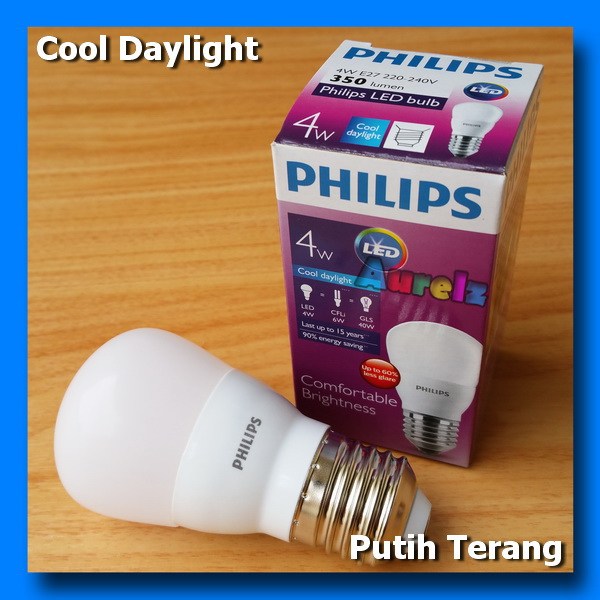 lampu led philips 4 watt cool daylight