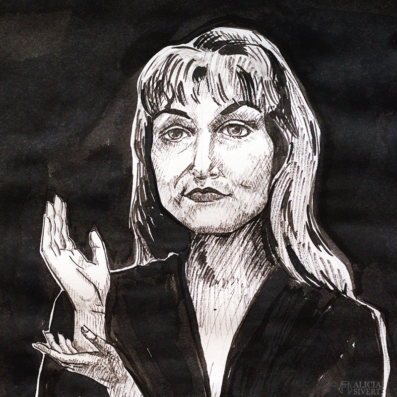 alicia sivert sivertsson aliciasivert konst konstverk teckning teckningar drawing drawings art tusch ink bläck tuschteckning kreativitet skapa skapande twin peaks the black lodge laura palmer händer hand hands meanwhile