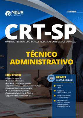 Apostila Concurso CRT SP 2020 PDF Grátis Cursos Online Cargo Técnico Administrativo