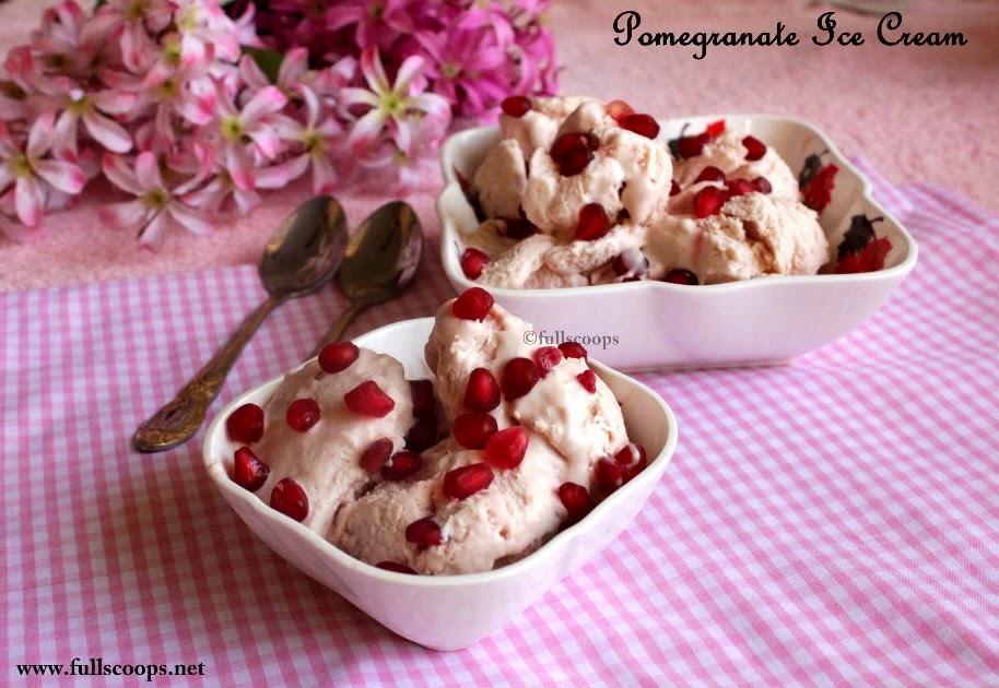 Pomegranate Ice Cream