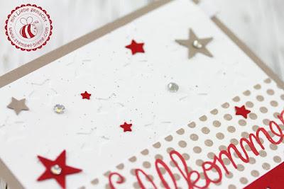 Babykarte Mädchen; Stampinup Babykarte; Stampinup Buchstaben, Buchstabenstanze; individualisierbare Karte; Zoobabies Stampinup; Stempel-Biene; Match the Sketch