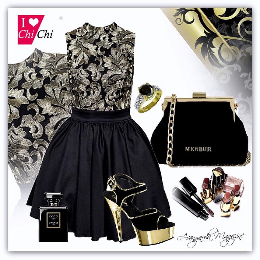 bad6737a98 Jak wybrać suknię wieczorową do okazji  Stylizacja kolaże modowe ...
