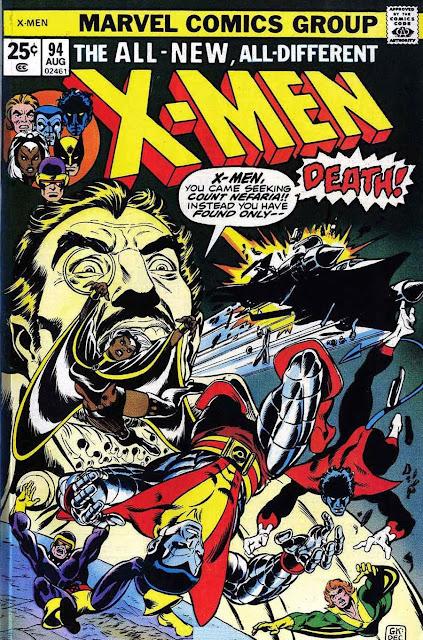 X-men v1 #94, 1975 marvel bronze age comic book cover - New X-men begin