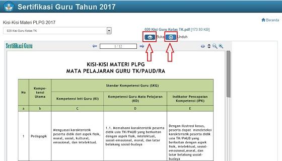 Kisi-Kisi Materi PLPG 2017 TK SD SMP SMA SMK, Cek dan Akses kemdiknas.swin.net.id