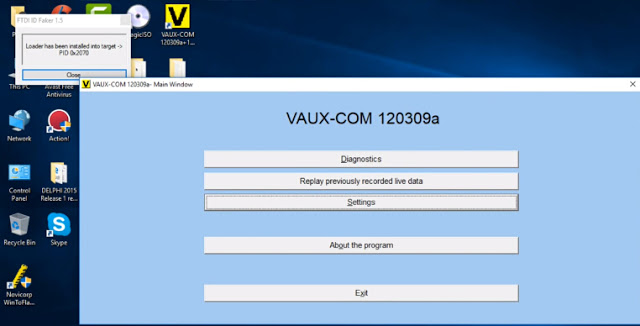 OPCOM VAUX-COM 120309a software on WIN10 (2)