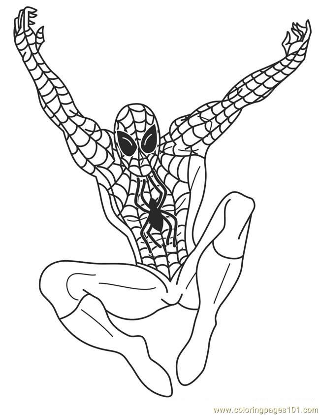 superhero free coloring pages - photo#12