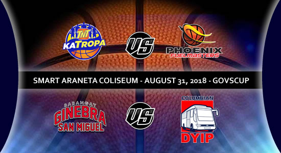 List of PBA Game(s): August 31 at Smart Araneta Coliseum 2018 PBA Governors' Cup