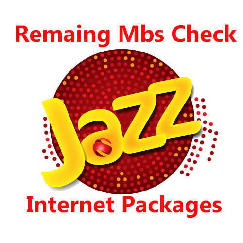 Check Jazz Remaining Mbs Code 3G & 4G Hourly, Daily, Weekly  And Monthly