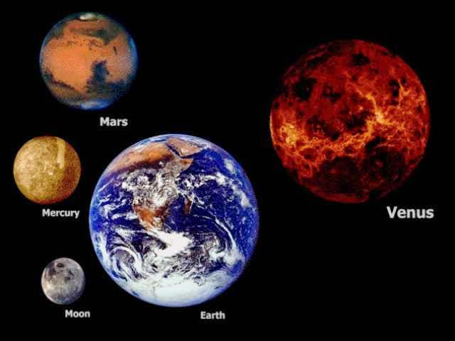 The Size Of Space As Depicted Here Is Truly Mind-Blowing - Earth is just about the same size as Venus.