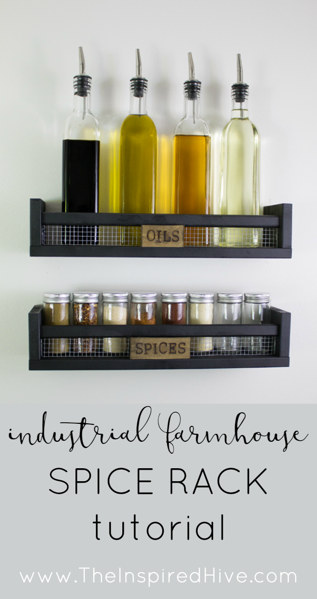 Ikea Bekvam hack! DIY industrial farmhouse spice rack tutorial.