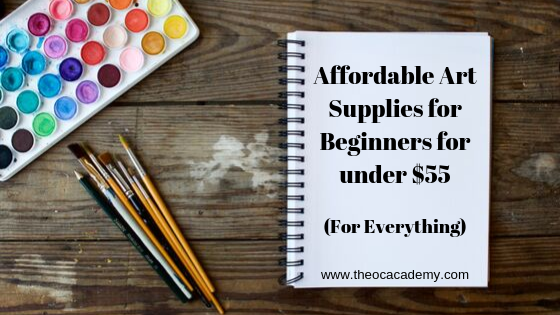 Affordable Art Supplies for Beginners for under $55