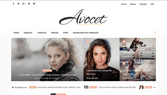 Avocet blogger theme
