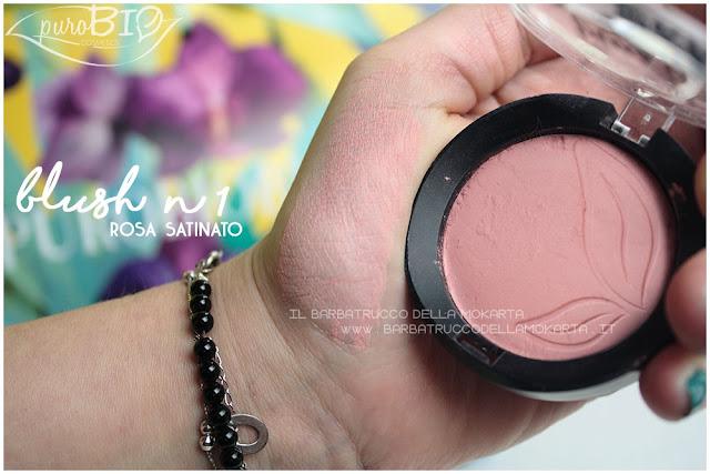 blush 1 rosa satinato purobio recensione review swatches