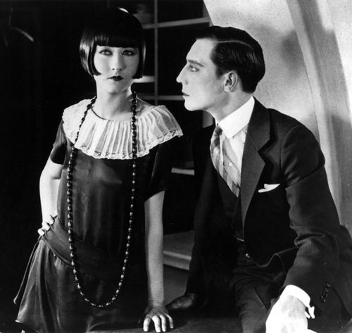 "Buster Keaton with Rosalind Byrne in ""Seven chances"""