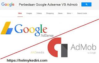Perbedaan google adsense dan google admob