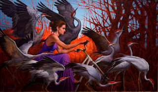 mujeres-perros-y-aves-pintura-oleo