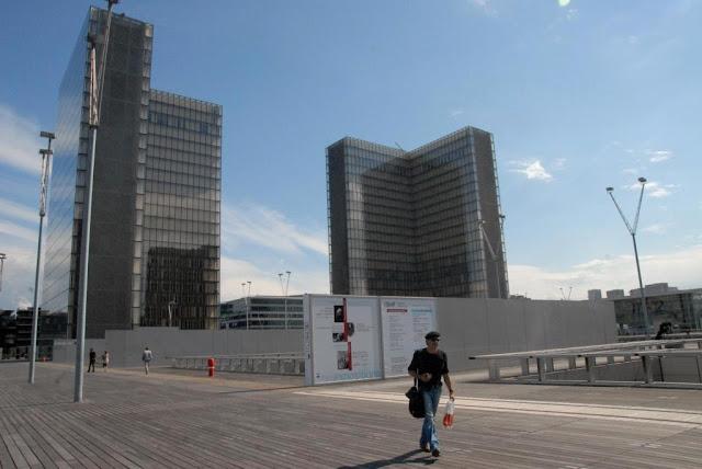 bnf tolbiac, architectuur parijs, architectuurwandeling in het 13e arrondissement parijs, ZAC rive gauche