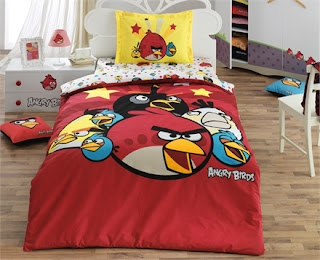 Angry Birds AB-01 Ranforce Tek Kişilik Nevresim Takımı